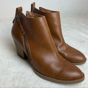 DV brown ankle booties size 11